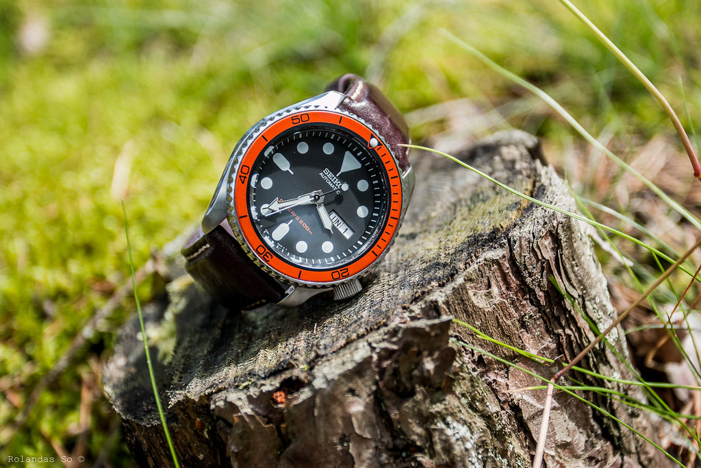 Seiko SKX007 with orange/black insert from ONESECONDCLOSER