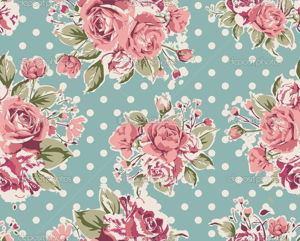 Vintage Teal Floral Wallpaper Hd Images Vintage Teal Flora Flickr