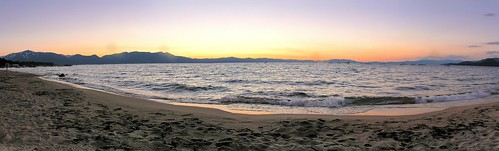 california sunset mountain lake beach water sand laketahoe alpine sierranevada southlaketahoe joelach