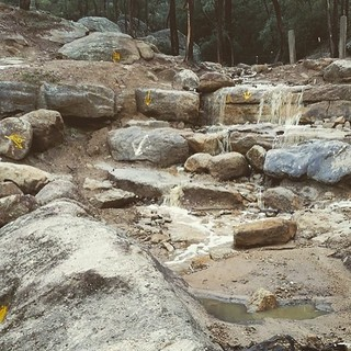 The @oricom UHF Rocky Horror water fall was is full affect late last week #tufftruck #ttc2015 #oricom #4wd #4x4 #milbrodale #sydneyweather #rain