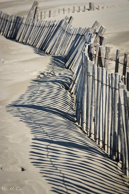 Ombres et lumière sur la plage