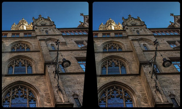 Munich town hall 3-D / CrossView / Stereoscopy / HDRaw