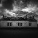 Traditional Chinese House Black & White
