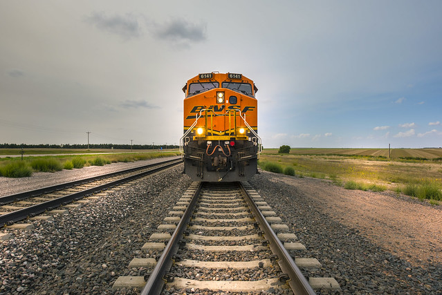 Train BNSF 6141 near Alliance - Nebraska - USA