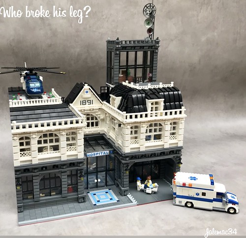 Who Broke his leg? A Modular hospital | by jalemac34