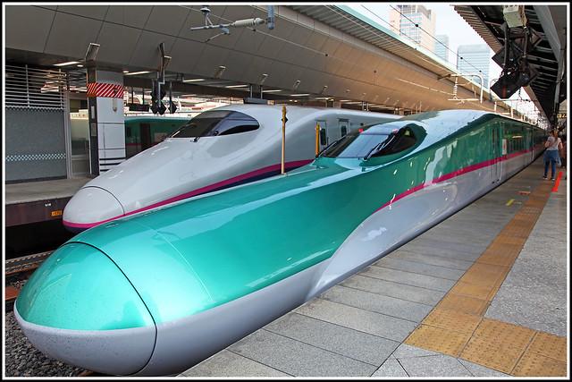 Shinkansen E5 and E2 Series trains