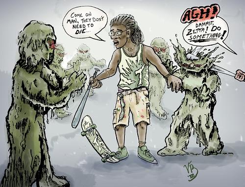 Mutant Battle | by VBuckley.com