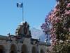 Antigua Guatemala, Palacio de los Capitanes Generales, v pozadí Fuego, foto: Petr Nejedlý