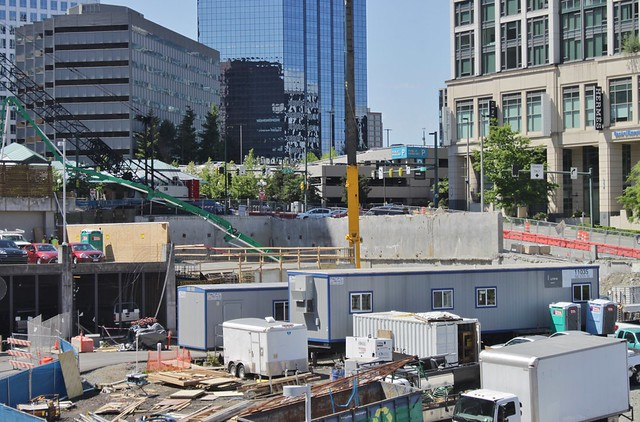 Bellevue Downtown Station excavation, May 2018