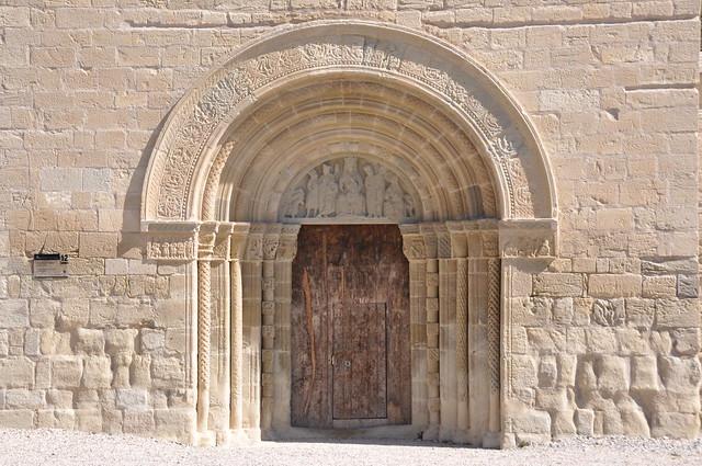 Santa Coloma de Queralt. Main door of the church of Santa Maria de Bell-Lloc. 13th C.