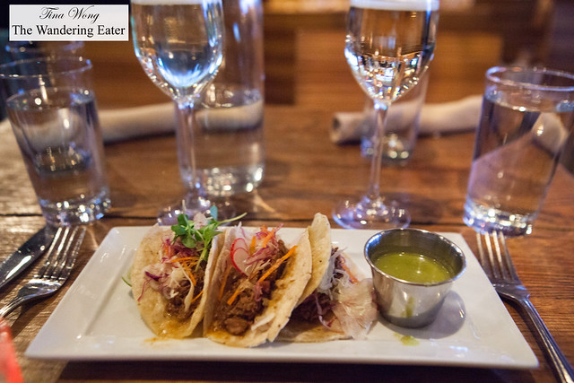 Pulled duck tacos
