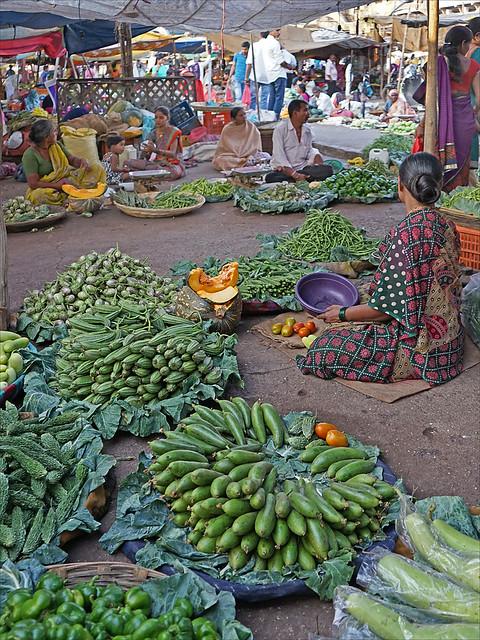 Marché sur les ghats de Nashik  (Inde)