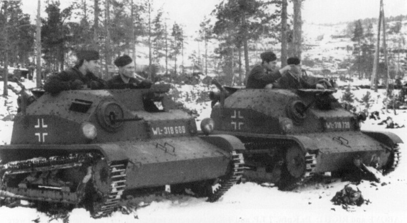 Captured Polish TKS tankettes