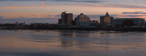 city sunset panorama reflection water colors skyline sunrise canon buildings river louisiana downtown south panoramic southern goldenhour westmonroelouisiana monroelouisiana canonef50mmf18ii bodyofwater ouachitariver 40d canon40d downtownmonroe eugenecampbell