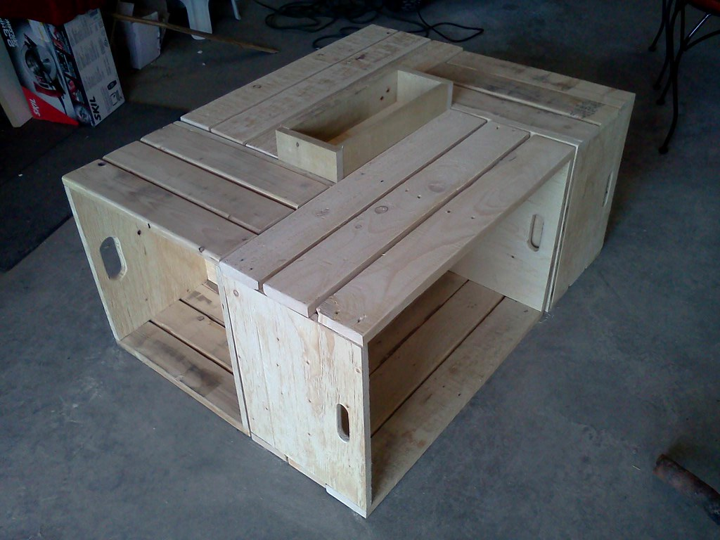 Table basse pour le salon en bois de palettes - Pallets Wood Coffee table