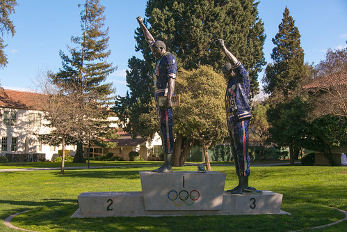 Black power statue - (Olympians:Tommie Smith and John Carlos)