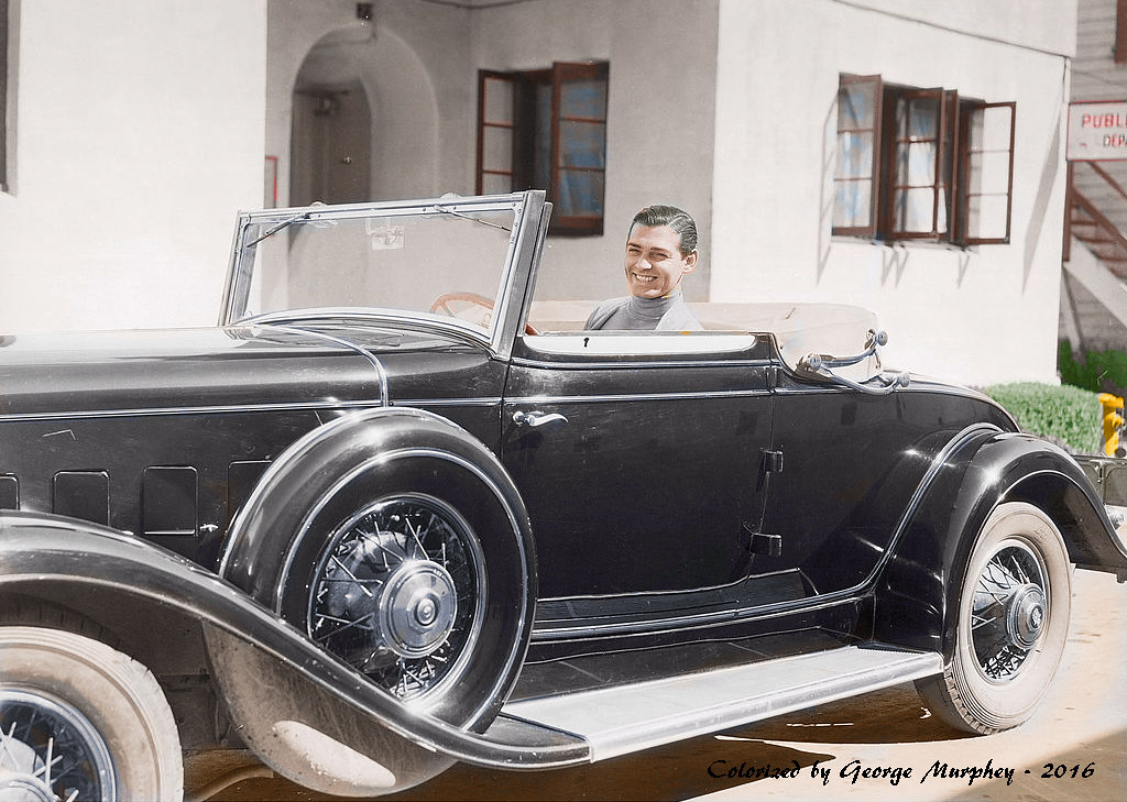 1935 Clark Gable Cadillac Colorized | George Murphey | Flickr