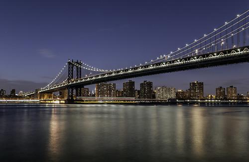 manhattanbridge nyc manhattanskyline night citylights