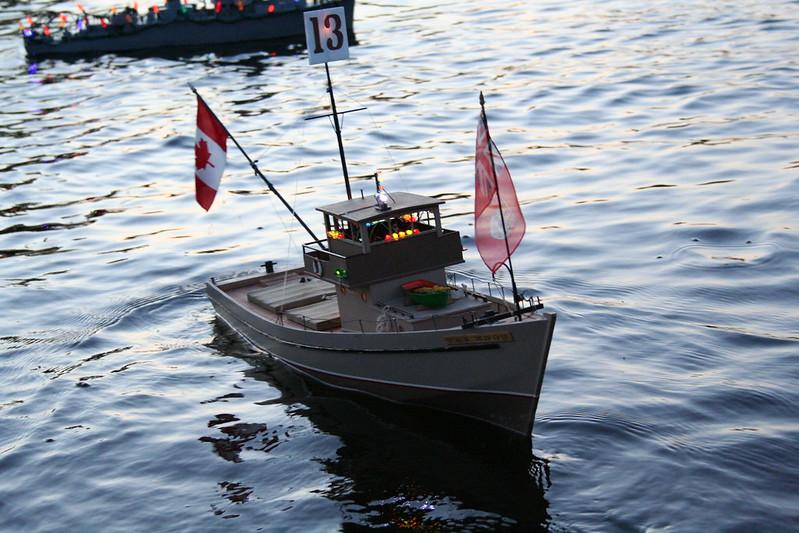 Fishing Trawler with Lights