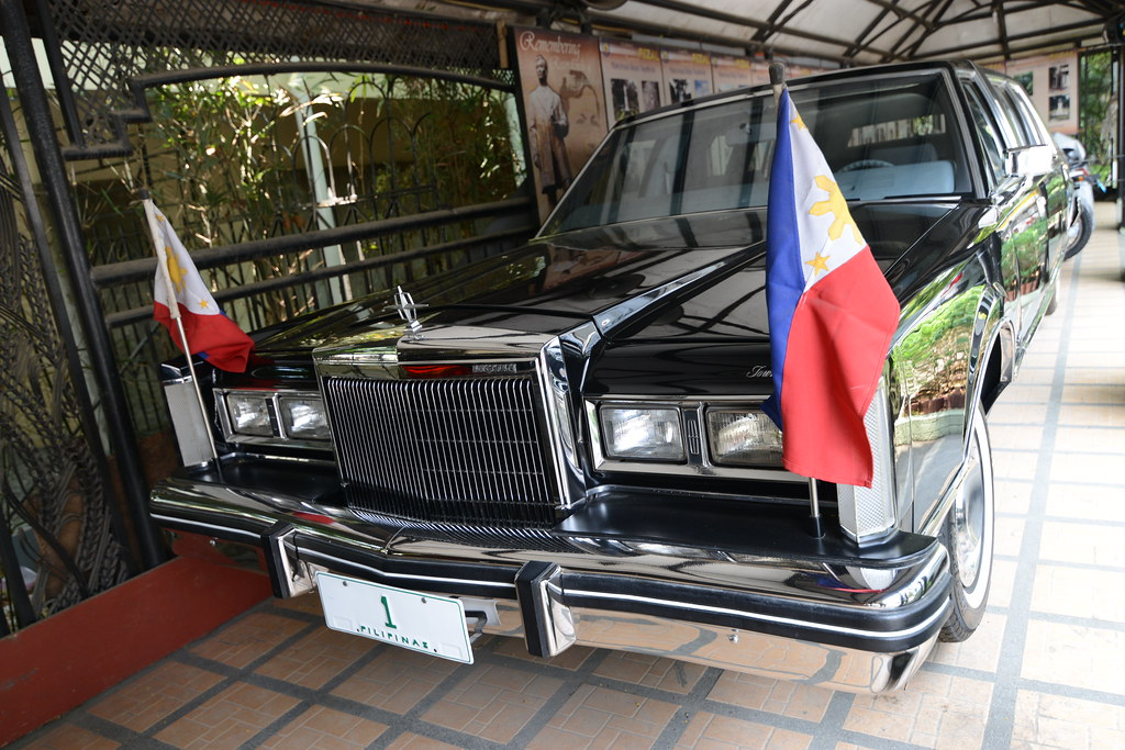The Lincoln Continental Presidential limousine used by the late Philippine President Ferdinand Marcos