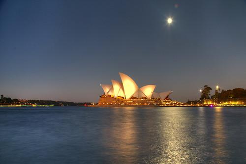 newsouthwales operahouse bluehour australia nsw sydney evening sunset