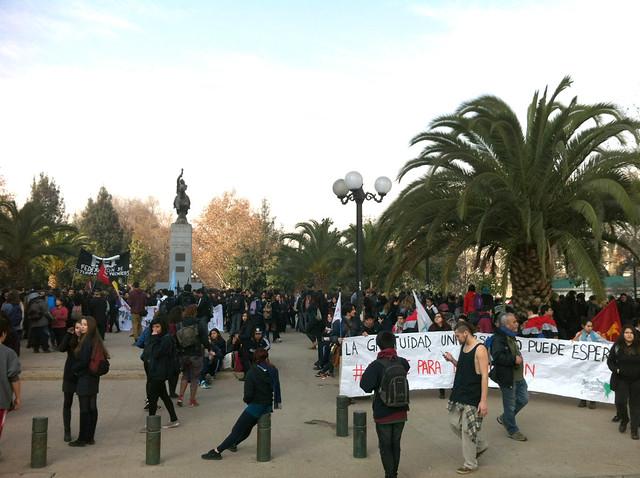 student protest Santiago de Chile 04 Aug 2016