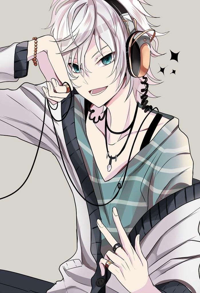 Anime Boy With Headphones Wallpaper Hd