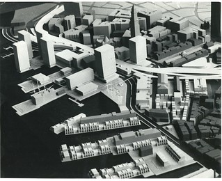 Architectural model of waterfront district looking southwest   by Boston City Archives