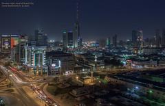 Elevated night visual of Kuwait City