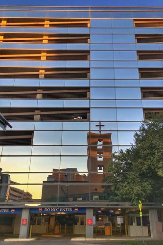 mayo sunset rochester architecture reflection mayoclinic minnesota
