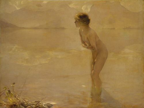"""Wikipedia picture of the day on August 25, 2016: """"September Morn"""" by Paul Chabas (The Metropolitan Museum of Art)"""