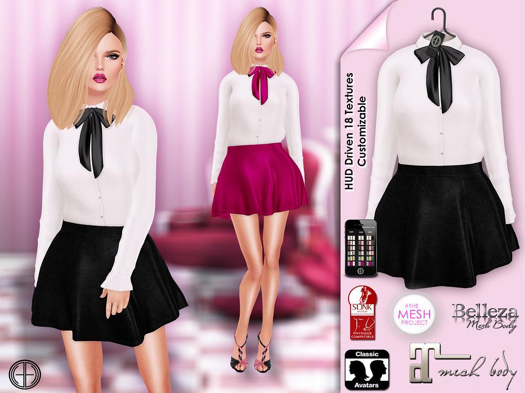 Hilly Haalan - Clara Skirt'n Shirt Outfit (HUD Driven) | Flickr