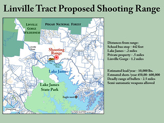 Proposed shooting range on the Linville Tract