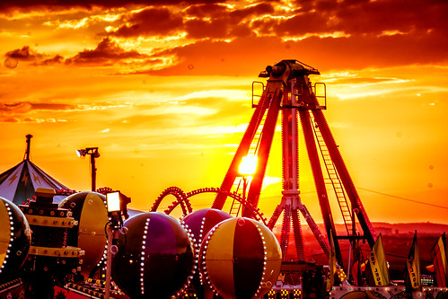 sunset austin evening texas unitedstates dusk fair amusementpark rides staroftexasfairandrodeo