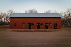 Horse Stables at Jinglebob Land and Livestock, just outside of Roswell, NM
