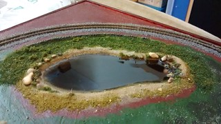 Working on scenery (resin added to lake) | by lilspikey