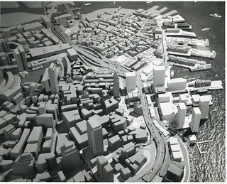 Architectural model of waterfront district looking northeast | by Boston City Archives