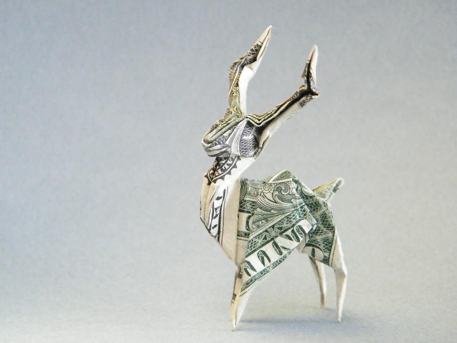 dollarorigami origami moneyorigami reindeer stag | Designed … | Flickr | 684x912