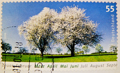 great stamp Germany € 0.55 55c (spring, Frühjahr, printemps, la primavera, jaro, 春, chūn, forår, весна́, άνοιξη, proljeće, wiosna, bahar, пружина, pomlad (March, April, May, June) timbres Allemagne  우표 독일 유럽 sellos Alemania selos Alemanha γραμματόσημα 55