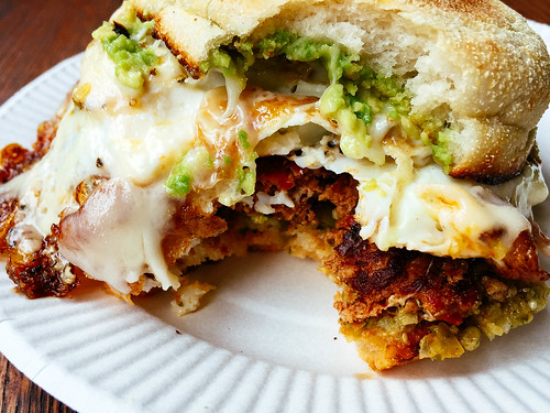 Chorizo bfast sandwich at Wheelhouse Boston | by Hybernaut