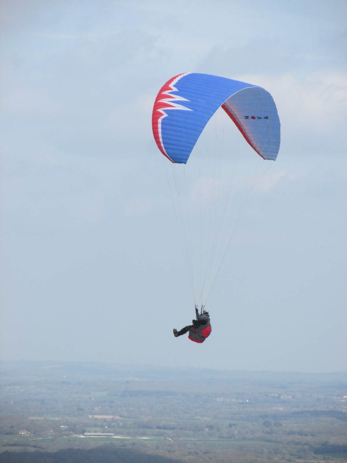 April 6, 2015: Glynde to Seaford Hang glider over South Downs