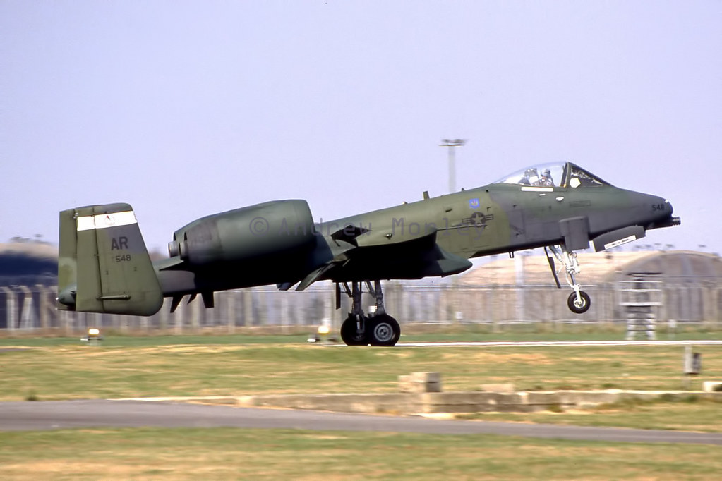 USAFE A-10A at Upper Heyford in 1991.