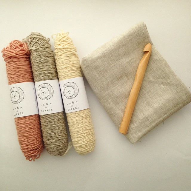 I found awesome Spanish yarn, linen fabric, and a big crochet hook ☺️ #yarnstash #naturalyarns #crochethooks #yarnporn #spanishyarn #knittersofinstagram #crochettersofinstagram #souveniryarn