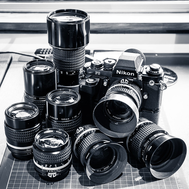 Nikon F3 and Manual Primes