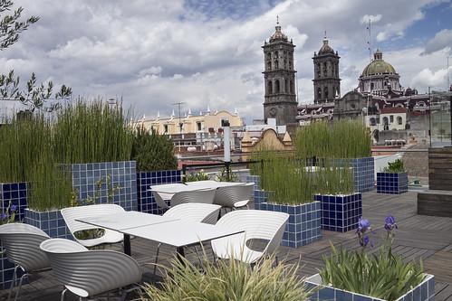 Rooftop at The Amparo Museum, Puebla, Mexico