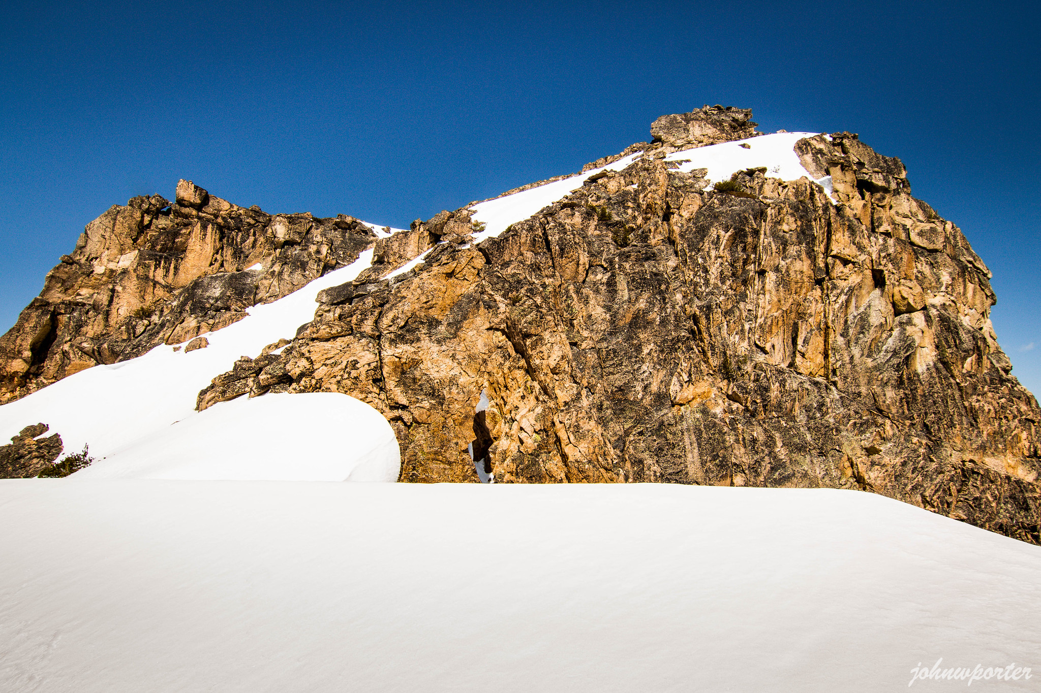 Mount Hardy summit above