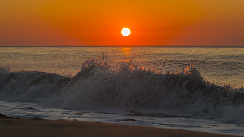 sunrise oceancity maryland md beach ocean wave splash dawn
