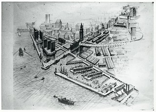 Rendering of waterfront district looking west | by Boston City Archives