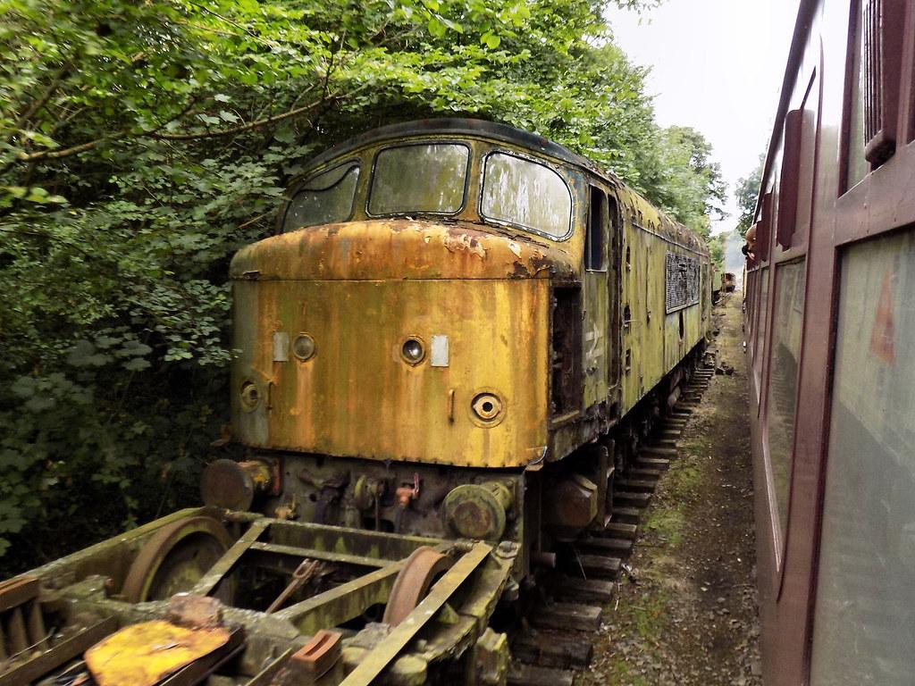 Derelict Ex-BR Class 45 'Peak' No. 45015.