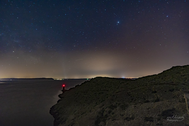 The island of Pag at night